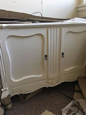French Style Shabby Chic Side Board Antique White