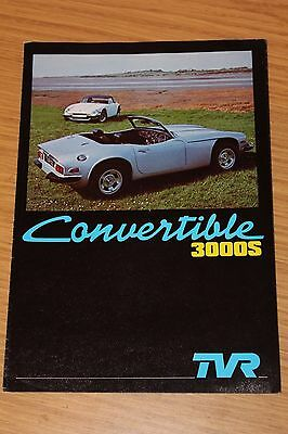 TVR Convertible 3000S Sales Folder  July 1978