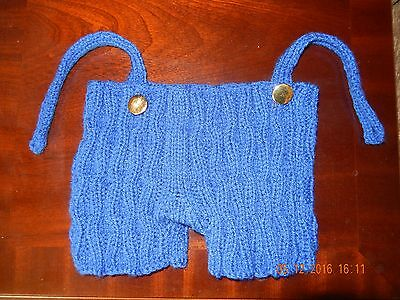 """Hand knitted  shorts that fit  16"""" Build A Bear type Characters"""