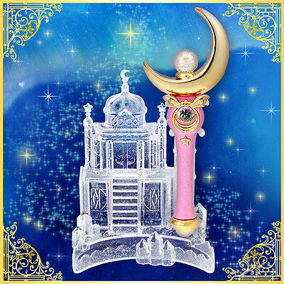 Sailor Moon Moonlight Memory Moon Stick & Castle Stand Serenity 20th