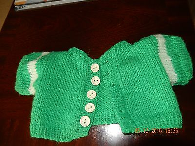 """Hand knitted Bear jumper - will fit  16"""" Build A Bear type Characters"""