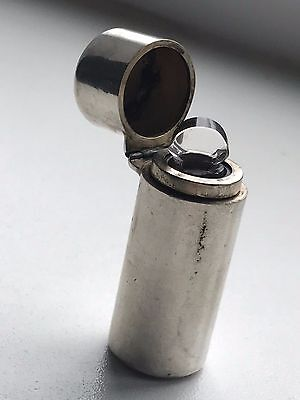 Antique Solid Silver Cylinder Perfume Scent Bottle - Horton Allday 1890