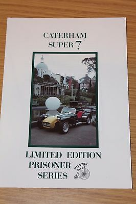 Caterham Super 7Limited Edition Prisoner Series Sales Folder 1990