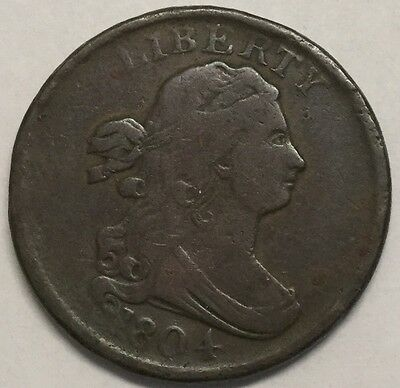 1804 1/2C Draped Bust Half Cent #