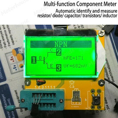 Digital All-in-one Component Meter Tester Transistor Diode Capacitor Inductor