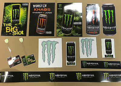 Monster Energy Promo Store Pack - Stickers - Hang Tags - Posters