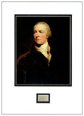 William Pitt The Younger Autograph Signed Display  AFTAL  UACC RD