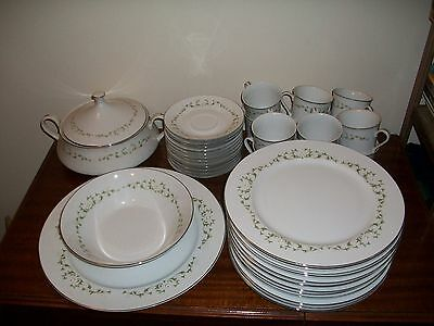 Sheffield Fine China 502 Setting of 12 plates cups saucers & serving dishes