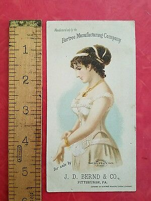 Vintage Bortree MFG Corset Advertisement - cardstock, typography, free shipping
