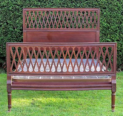 Stunning Heals Mahogany Double bed with Original Spring Base