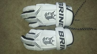 Brine King Large White Lacrosse Gloves