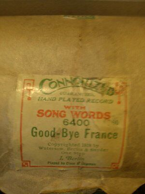 """""""Good-Bye France"""" - Connorized 6400 Player Piano Roll"""