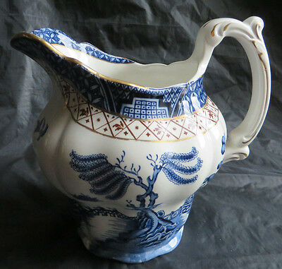 """VINTAGE BOOTHS REAL OLD WILLOW A 8025 LARGE 28OZ. PITCHER JUG 6.25"""" Tall"""