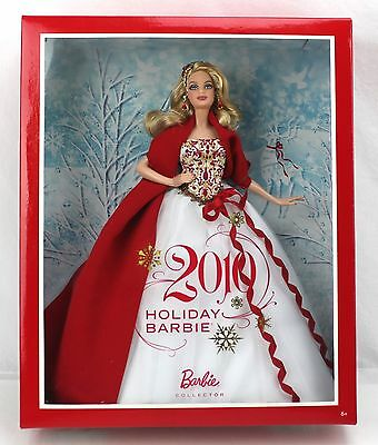Barbie 2010 HOLIDAY BARBIE Collector Edition Red & White Dress #R4545