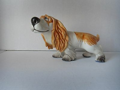 Superb!   Rare!   Magrou Porcelain Cocker Spaniel Figurine Made In Portugal