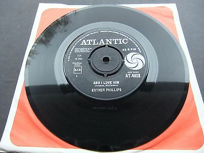 "ESTHER PHILLIPS""AND I LOVE HIM""ATLANTIC 4028 (1965)7in"