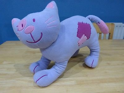 Next Lilac With Pink Patches Soft Cuddly Cat