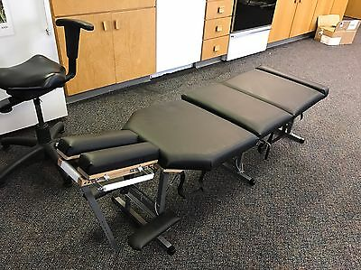 Custom Wood Portable Chiropractic Cervical Lumbar Drop Thompsom Table and Bag