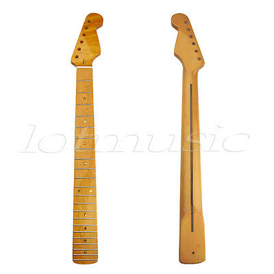 Gloss Maple 22 Fret Electric Guitar Neck for ST Parts Replacement