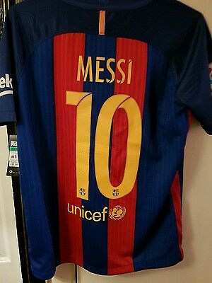 barcelona home shirt 2016-2017 messi 13-15 years authentic