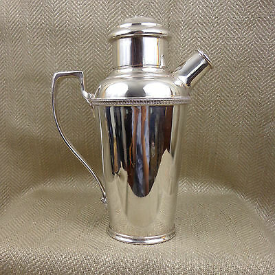 Art Deco Cocktail Shaker Silver Plated Large Walker & Hall Original 1920s Jug