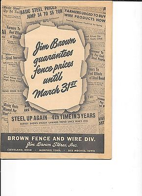 JIM BROWN FENCE & WIRE 1950 CATALOG 32 pgs lots of PHOTOS