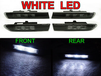 2004-2008 ACURA TL SMOKED WHITE LED 4PIECE FRONT + REAR SIDE MARKER LIGHT Type S