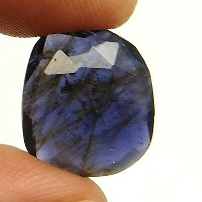14.40 cts Natural Inclusion Rare Iolite Both Side Faceted Fancy Loose Gemstone