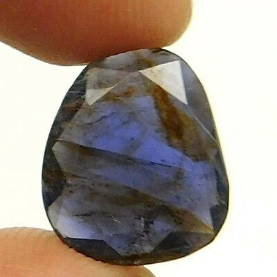 10.35 cts Natural Inclusion Rare Iolite Both Side Faceted Fancy Loose Gemstone