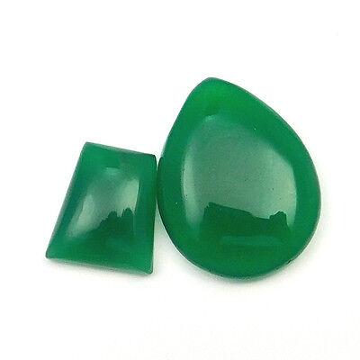 37.20 Cts Wholesale Lot Natural Green Onyx Gemstone Mix shape Loose Cabochon
