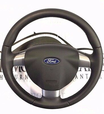 2007 Ford Focus Leather Steering Wheel With Airbag 4M513600Ekw 30347732