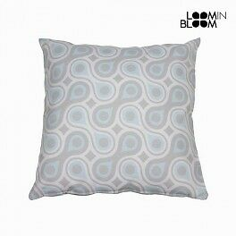 Coussin gouttes bleu by Loomin Bloom