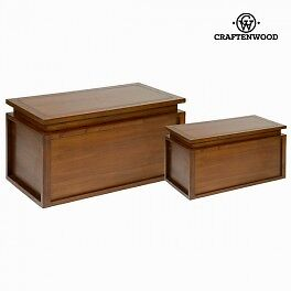 Ensemble de 2 coffres en bois - Collection Let's Deco by Craften Wood