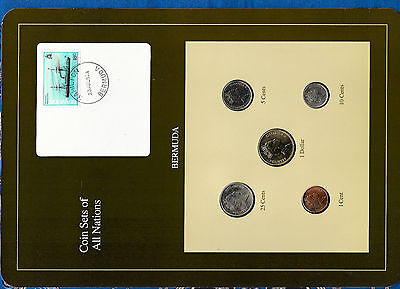 Coin Sets of All Nations Bermuda 1986-1991 UNC $1 25 cent 1988 10 cent 1990