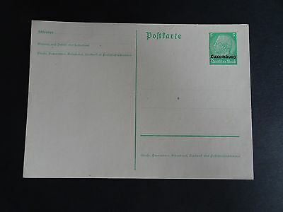 Superb Perfect Mint Germany Luxembourg Occupation Postcard (Lot 7) - Useful ?