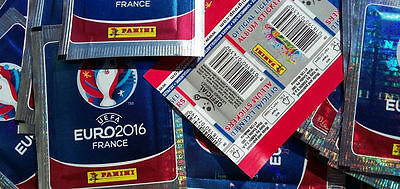 STICKERS EURO 2016 France Adrenalyn XL Panini Set 250 packs(1250 Stickers)+ALBUM