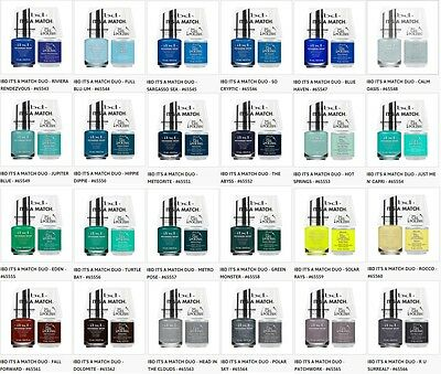 IBD Nail Just Gel Polish It's A Match Duo Variations 65543 to 65566 .5oz/14mL