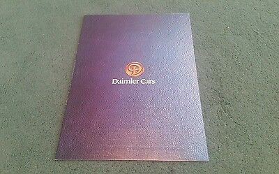 September 1978 DAIMLER UK BROCHURE Sovereign 4.2 & V12 Double Six - Publ 3271/A