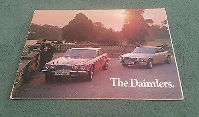 1973 1974 DAIMLER UK 22pg BROCHURE Sovereign Double Six Two Door Coupe 4.2 5.3