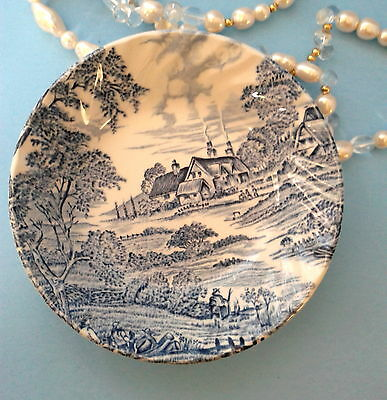 """Hand Engraved Ridgway Staffordshire Meadowsweet 5 1/4"""" Fruit Nappie Sauce Bowl"""
