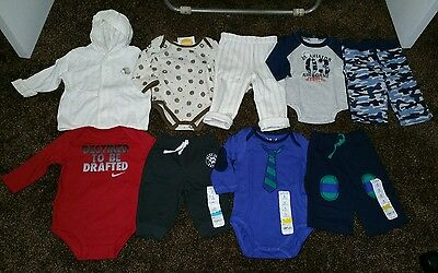 NWT Size 3 Months Boys LOT Of OUTFITS  CLOTHES Winter Gymboree 3-6 Mo