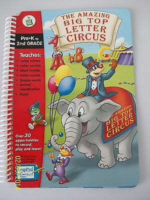 LeapFrog LeapPad: The Amazing Big Top Letter Circus  GREAT ***Book ONLY