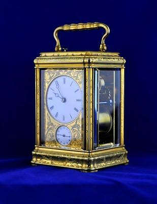 Drocourt Engraved Gorge Cased Repeating Carriage Clock