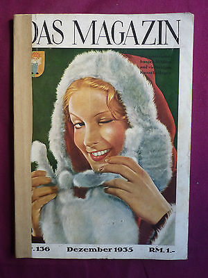 Das Magazin 12.1935 Jean Harlow Hepburn Bow Helm Gish Mickey Mouse Rogers