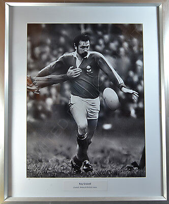 **REDUCED** Vintage Rugby Photograph Ltd Ed Print Ray Gravell Llanelli Scarlets