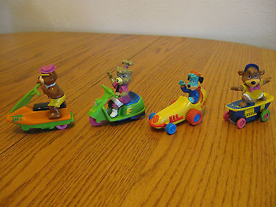 Complete set of 4 1991 Yogi,Cindy,Boo-Boo,Huckleberry Bear LAF Squad