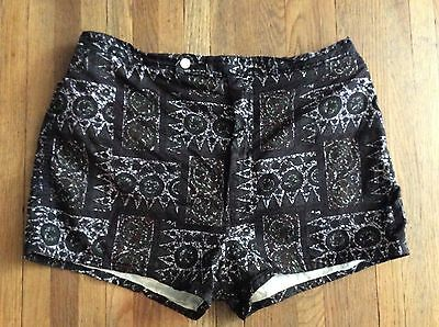 Vintage Catalina 1950s Men Swim Shorts Short Shorts SwimSuit Tiki Tribal 36