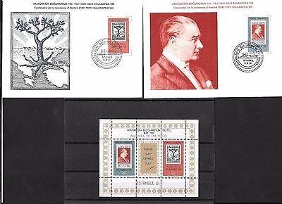 Turkey 1981 Balkanfila VIII Stamp Exhibition Block and ards