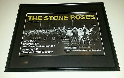 The Stone Roses Framed Concert / Gig Flyer Manchester Ian Brown Glasgow