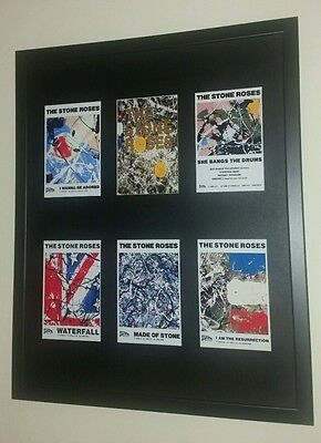 The Stone Roses Framed Singles Print Display Manchester Ian Brown